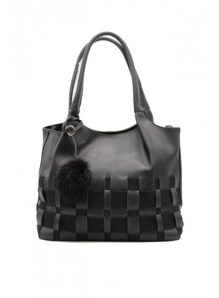 Черна дамска чанта Tom & Eva