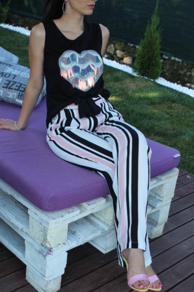 Дамски панталон на райета