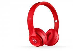 Headphones with mic Beats SOLO2 WIRELESS ON-EAR - RED
