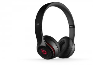 Headphones with mic Beats SOLO2 WIRELESS ON-EAR - BLACK