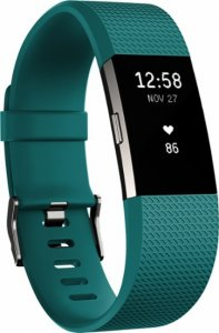 Fitness band Fitbit CHARGE 2 TEAL SILVER S FB407STES