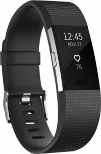 Fitness band Fitbit CHARGE 2 BLACK SILVER LARGE FB407SBKL