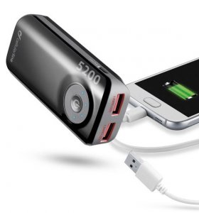 Power Bank Cellularline 5200 MAH black
