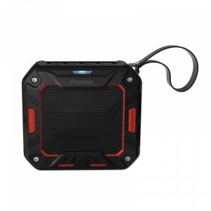 Portable speaker Hama 173107 ROCKMAN-S BLACK/RED