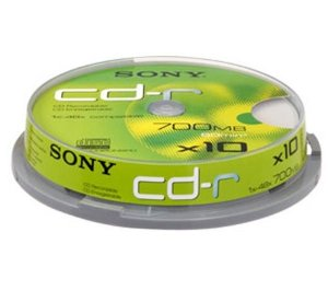 Media Sony CD-R X10 700MB 10CDQ80NSPD/10CDQ80SP