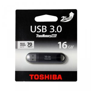 USB flash memory Toshiba SUZAKU 16GB USB 3.0 BLACK