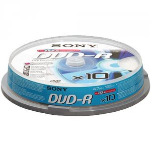 Media Sony 10X DVD-R 10DMR47BSP/10DMR47SP