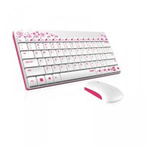 Keyboard Rapoo 8000 12786 + МИШКА БЕЗЖИЧНИ БЕЛИ