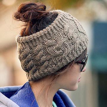 Плетена широка лента за глава