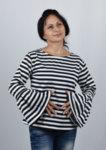 Дамска моряшка блуза с широк ръкав