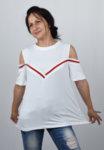 Дамска блуза с паднал ръкав