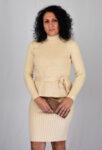 Дамска плетена рокля с пуловер
