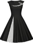 Дамска рокля с широка яка