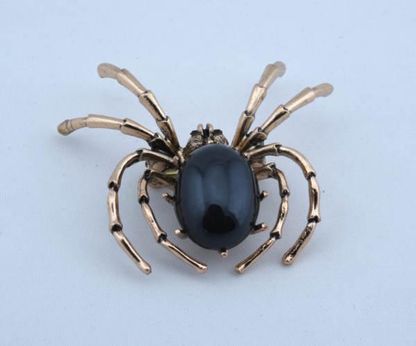 Дамска брошка във формата на паяк