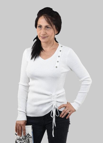 Дамски пуловер с оригинален дизайн