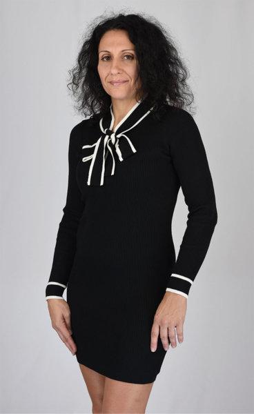 Плетена рокля с вратовръзка