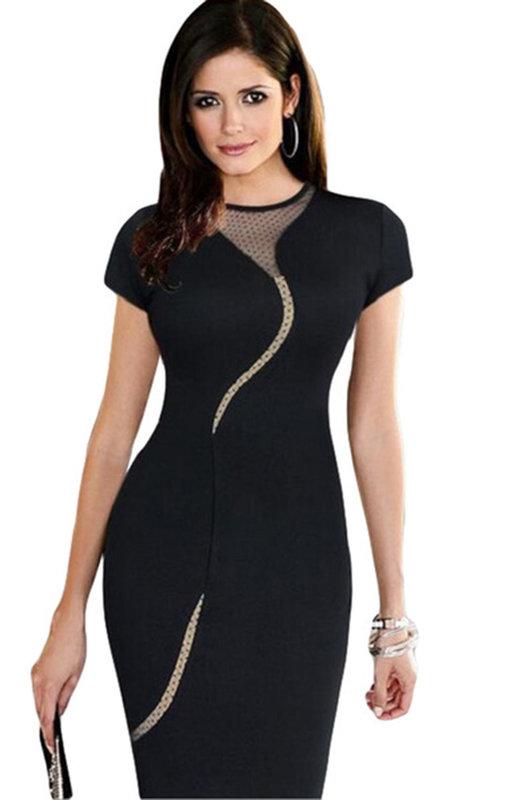Дамска рокля с дантела