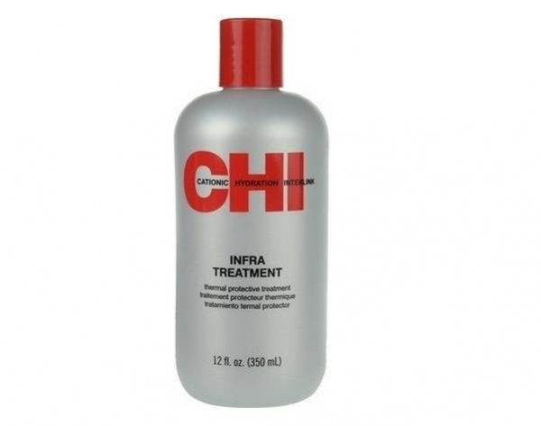 Подхранващ балсам без парабени и сулфати за защита на цвета на боядисана коса от серията CHI Infra Treatment на Farouk Systems – 355 мл.