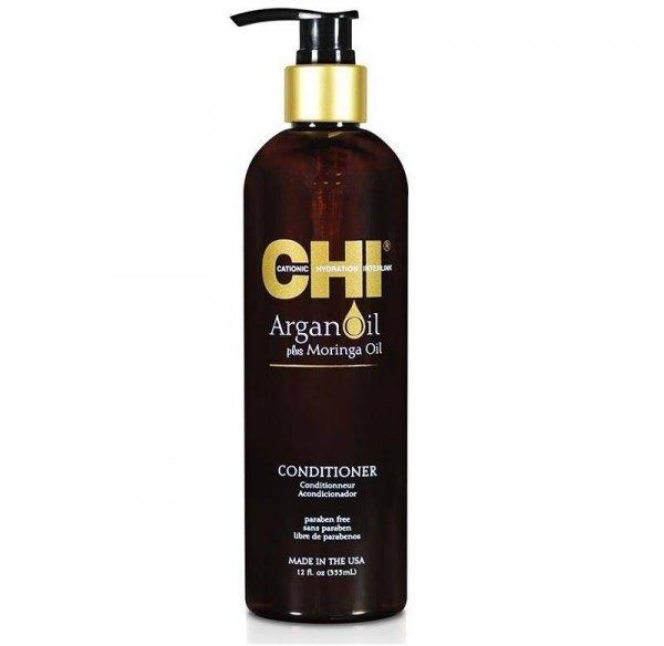 Подхранващ балсам за суха и увредена коса с арганово масло и масло от безсмъртна моринга CHI Argan Oil Conditioner 355 мл.