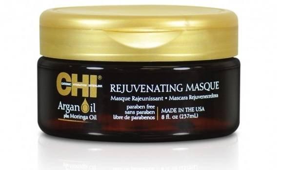 Интензивно подхранваща маска за суха и увредена коса с арганово масло и масло от безсмъртна моринга CHI Argan Oil Rejuvenating Masque 237 мл.