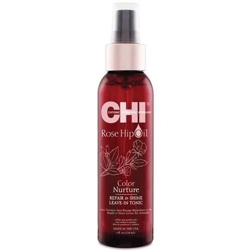 Възстановяващ спрей за блясък на боядисана коса CHI Rose Hip Oil Color Leave-in Tonic 118 мл