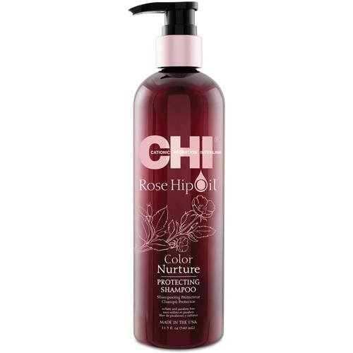 Шампоан за блясък за боядисана коса CHI Rose Hip Oil Color Nurture Shampoo 340мл