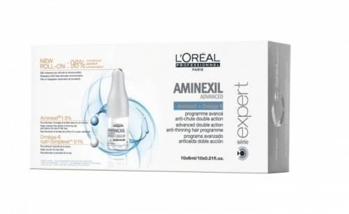 Кутия ампули против косопад LOreal Professionnel Aminexil 10 x 6 мл.