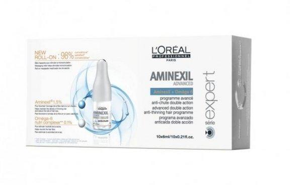 Кутия интензивни ампули против косопад с Aminexil и Omega-6 - L`Oreal Professionnel Aminexil 42х6 мл.