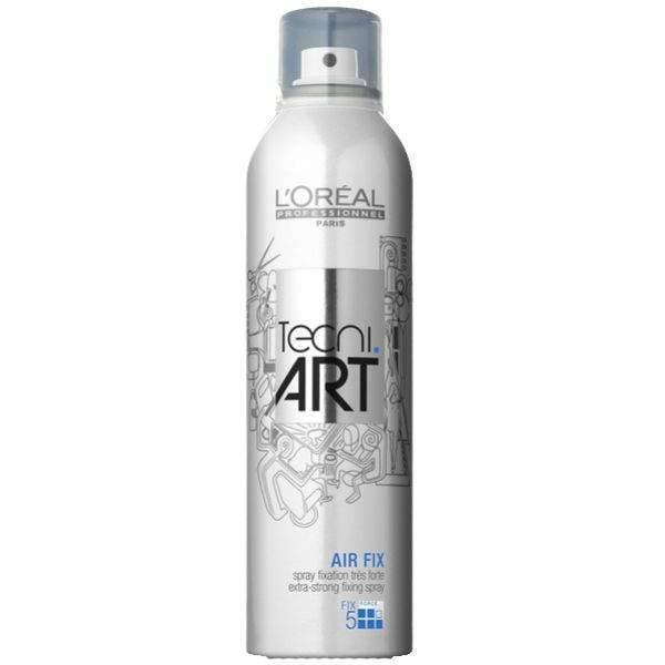 Силнофиксиращ спрей-лак за дълготрайна фиксация и анти-статичен ефект с UV филтър Loreal Professionel Tecni Art Air Fix 400 мл.