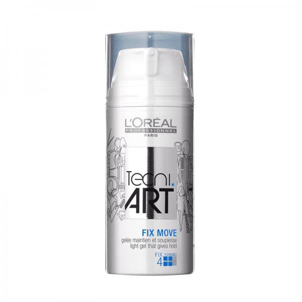 Свеж лек гел за фиксация с частици за блясък и естествен вид на косата с UV филтър Loreal Professionel Tecni Art Fix Move 150 мл.