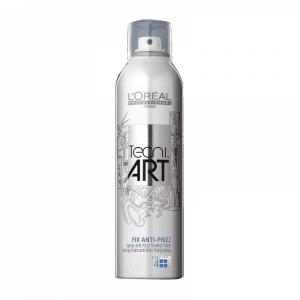 Силно фиксиращ анти-фриз спрей с антистатичен ефект и UV филтър Loreal Professionel Tecni Art Fix Anti-Frizz 250 мл.
