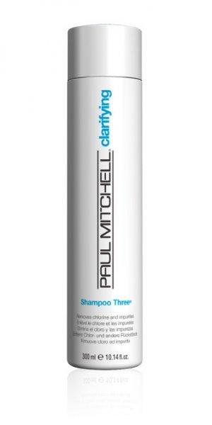 SHAMPOO THREE® дълбоко почистващ шампоан, премахващ хлорните натрупвания
