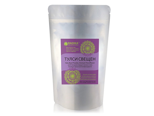 Тулси (Свещен Босилек) на прах - Radika - 100 гр.