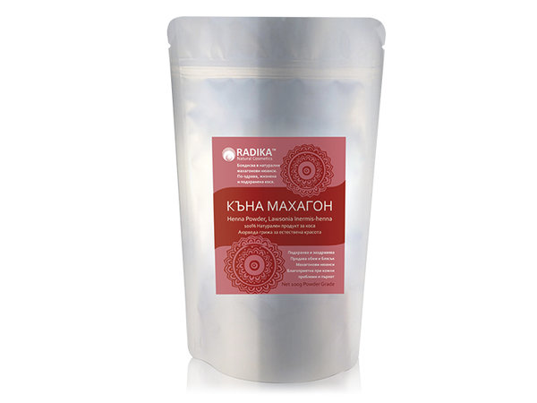 Къна Махагон (чиста) на прах - Radika - 100 гр.