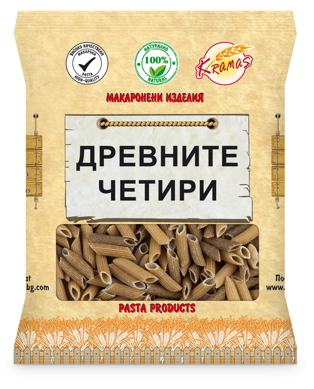 Макарони от Ръж - Спирала (Фузили) - Крамас - 250 гр.-Copy