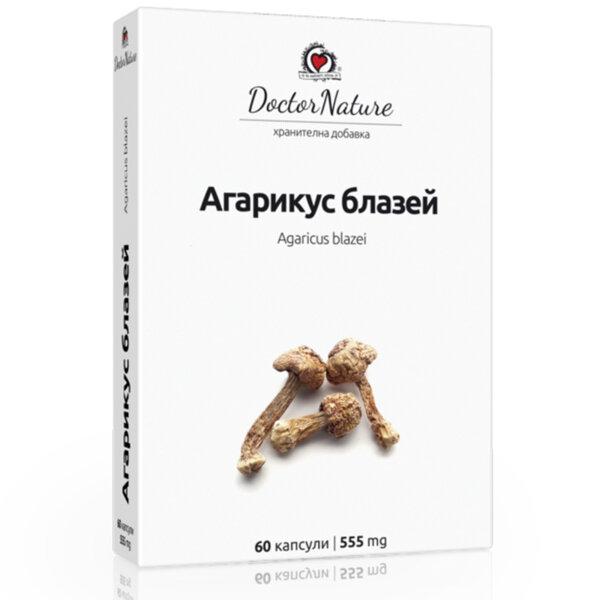 Витални Гъби Агарикус Блазей /Agaricus blazei/ - Dr. Nature - 60 капс.