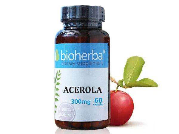 Ацерола 300 мг. - Биохерба - 60 капсули