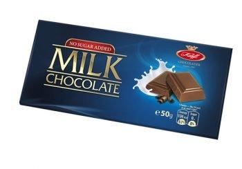 Млечен шоколад без добавена захар - Koleff - 50 гр.