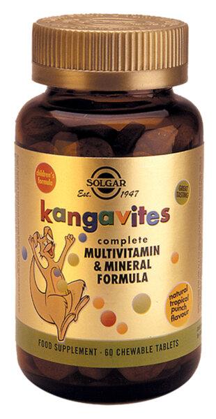 Детски Мултивитамини - Тропически Плодове - Solgar - 60 дъвчащи таблетки