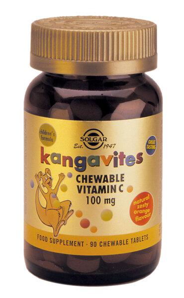 Витамин C за деца 100 мг - Solgar - 90 дъвчащи табл.