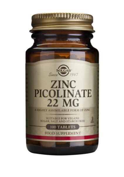 Цинк пиколинат 22 мг - Solgar - 100 табл.
