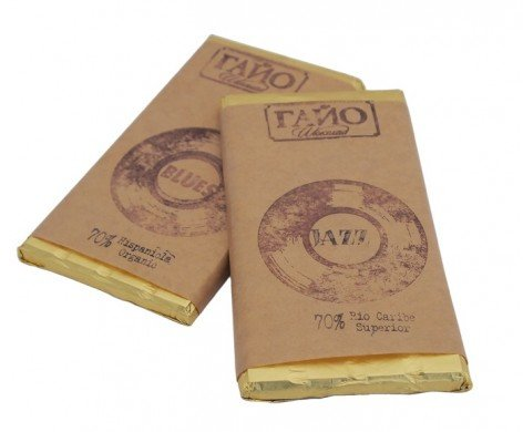 ГАЙО Натурален (черен) Шоколад 70% какао JAZZ - 80 гр.