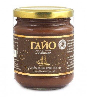 ГАЙО Веган Течен Шоколад - какаово-лешникова паста - 200 гр.