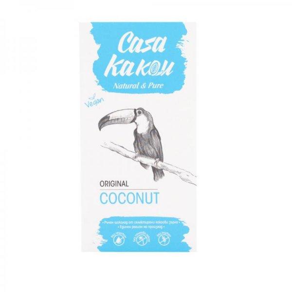 Casa Kakau Черен Веган Шоколад с Кокос - 80 гр