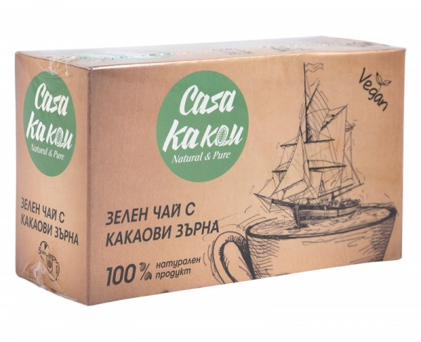 Casa Kakau Зелен Чай с Какаови зърна - 36 гр.