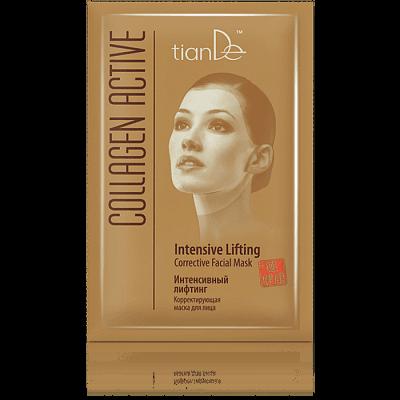 """Коригираща маска за лице """"Интензивен лифтинг"""" Collagen Active, 1 бр."""