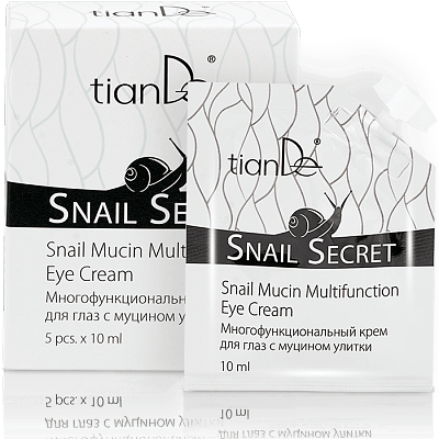 Многофункционален крем за очи със секрет от охлюви Snail Secret, 5 бр. x 10 мл