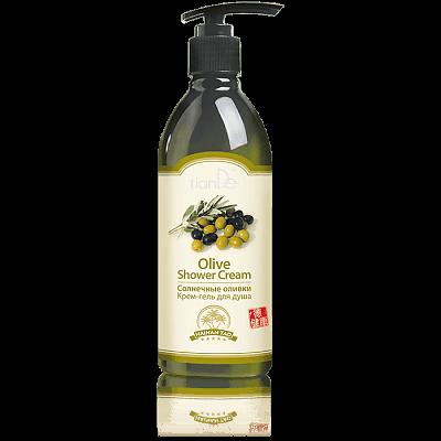 """Крем-гел за душ """"Слънчеви маслини"""" Hainan Tao, 350 г"""