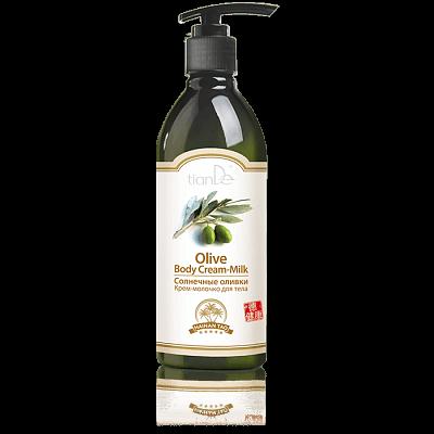 "Крем-мляко за тяло ""Слънчеви маслини"" Hainan Tao, 350 г"