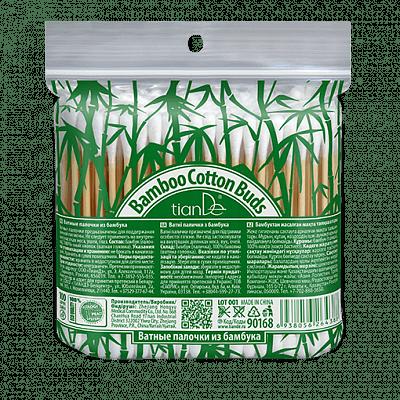 Памучни клечки от бамбук, 100 бр